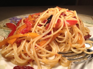Sun Dried Tomato Parmesan and Garlic Pasta